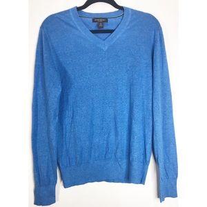 Blue banana republic silk linen S v neck sweater